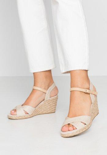 Sandály na klínu