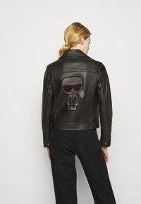 KARL LAGERFELD - IKONIK  BIKER JACKET - Leather jacket - black - 2
