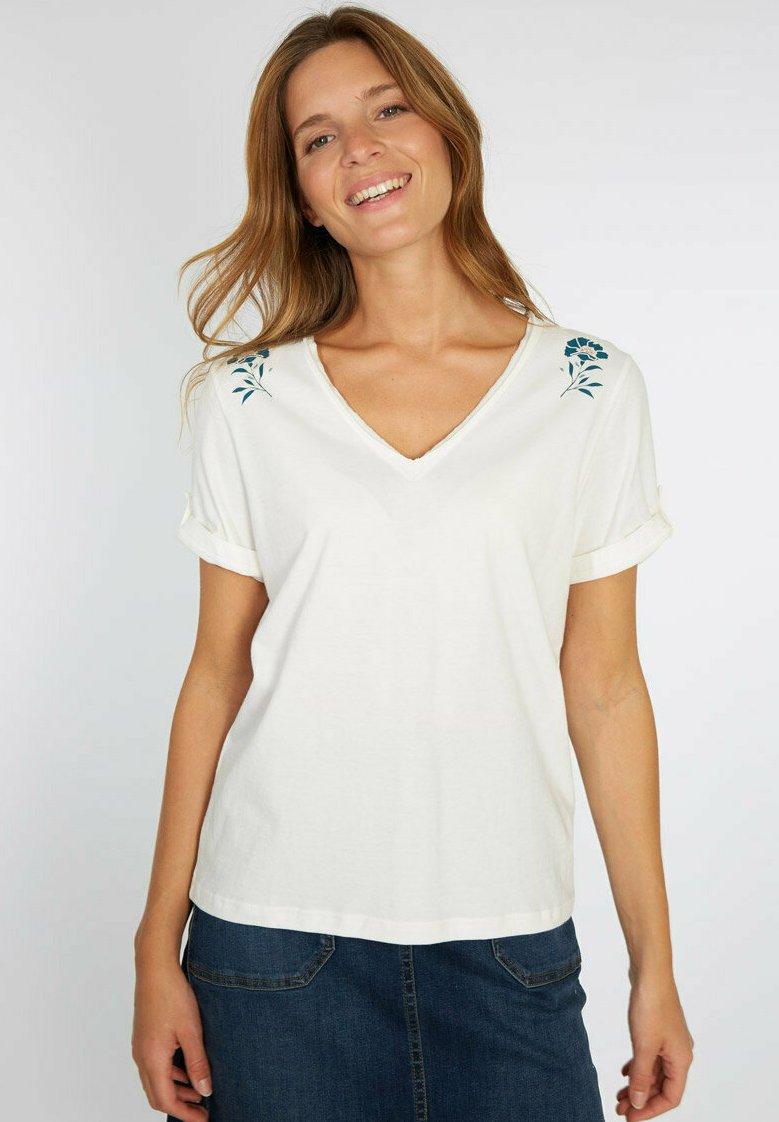 Armor lux - T-SHIRT IMPRIMÉ - Print T-shirt - milk séri.fleurs