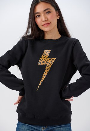SWEATSHIRT ALANIS WILD LIGHTNING - Sweatshirt - black