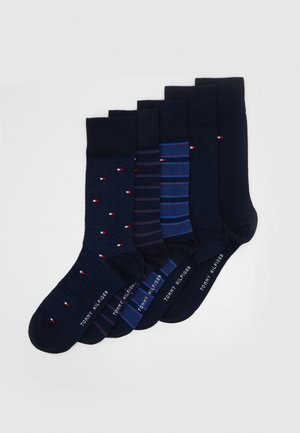 SOCK FINE STRIPE GIFTBOX 5 PACK - Socken - dark navy