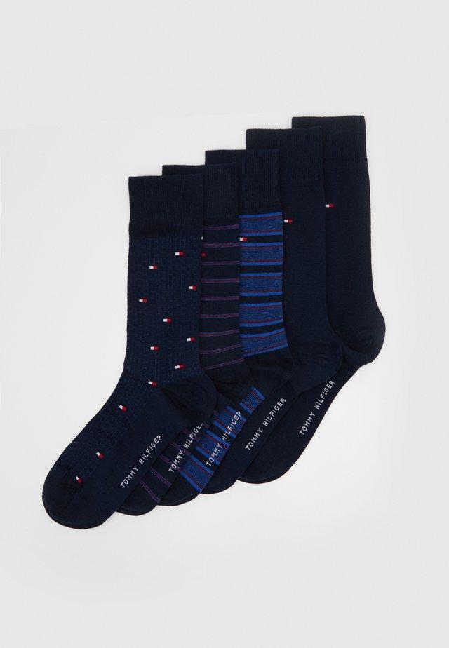 SOCK FINE STRIPE GIFTBOX 5 PACK - Socks - dark navy