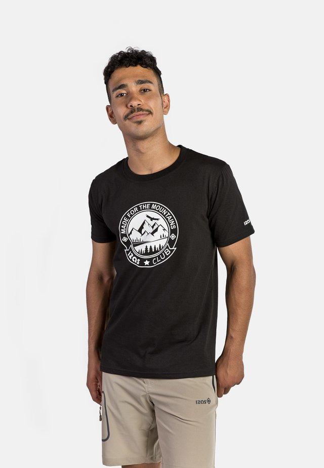 ZURICH - T-shirt con stampa - black