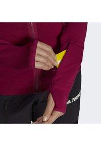 adidas Performance - Zip-up hoodie - burgundy - 6