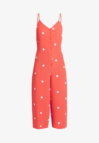 SPOT ROMPER BUTTON THROUGH - Jumpsuit - red