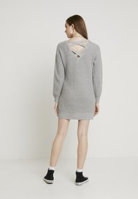 Hollister Co. - BACK DRESS - Abito in maglia - grey - 2