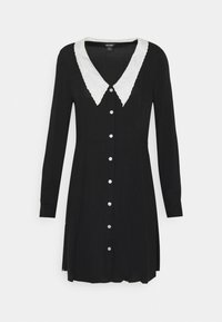 Monki - NOOMI DRESS - Skjortekjole - black - 4
