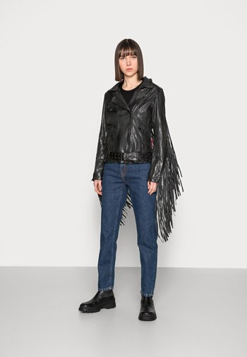 HEARTBREAK - Leather jacket - black