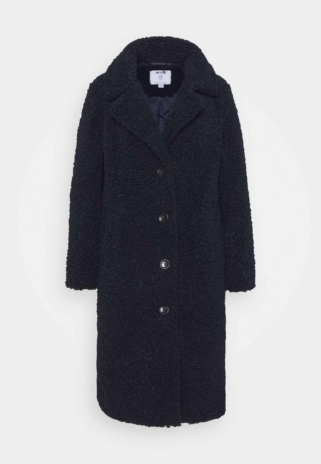 SUPER LONGLINE TEDDY COAT - Winter coat - navy