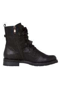 Marco Tozzi - STIEFELETTE - Cowboy/biker ankle boot - black antic - 5