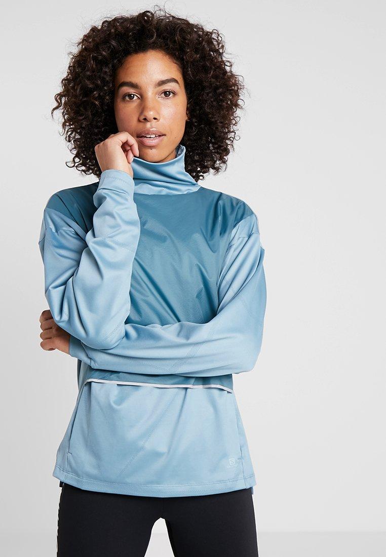 Salomon - ELEVATE AERO COZY - T-shirt à manches longues - smoke blue