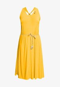 Ragwear Plus - MILIE PLUS - Žerzejové šaty - yellow - 4