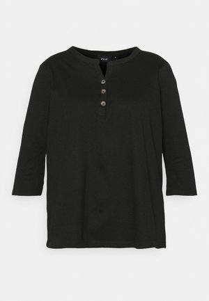 XCILLE BLOUSE - Long sleeved top - black