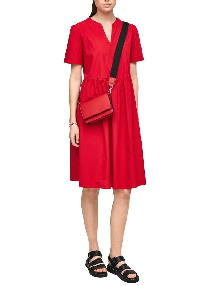 LANG - Korte jurk - true red
