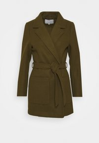 VILA PETITE - VICATTY BELTED COLLAR COAT - Classic coat - dark olive - 4