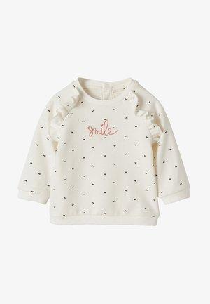Sweatshirt - wollweiß bedruckt