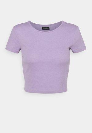 Jednoduché triko -  mottled lilac