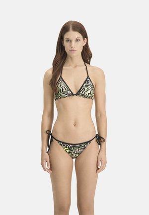 Bikini top - black / green