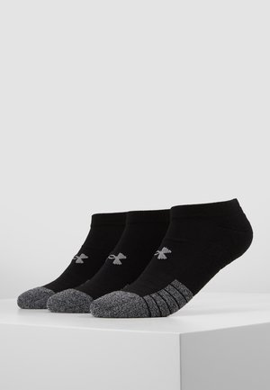 HEATGEAR 3 PACK - Trainer socks - black/steel