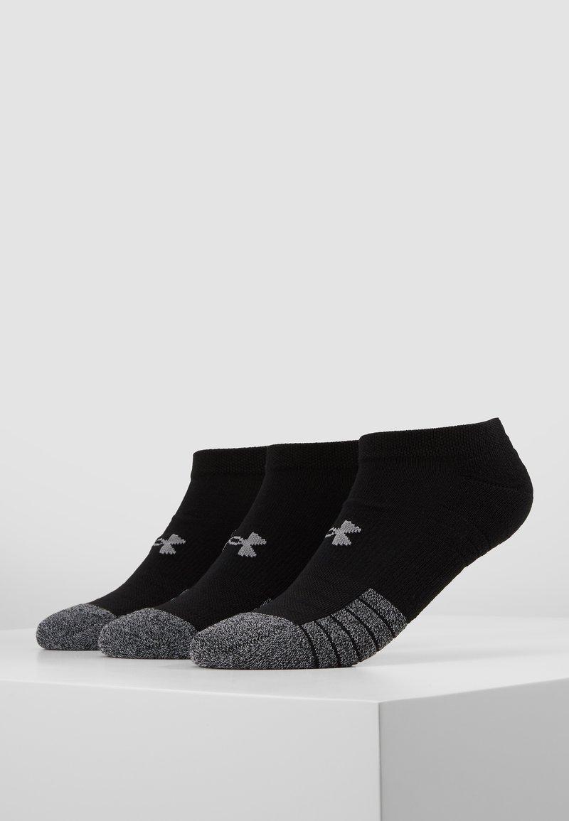 Under Armour - HEATGEAR 3 PACK - Trainer socks - black/steel