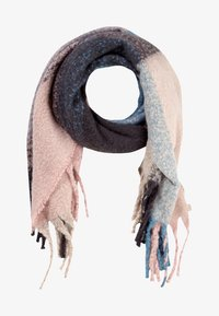 comma - MIT COLOURBLOCK-MUSTER - Scarf - light pink/teal/grey - 2