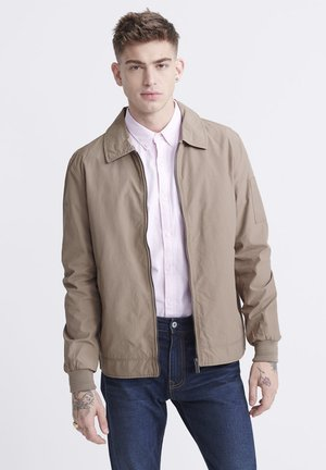COLLARED HARRINGTON - Summer jacket - combat brown