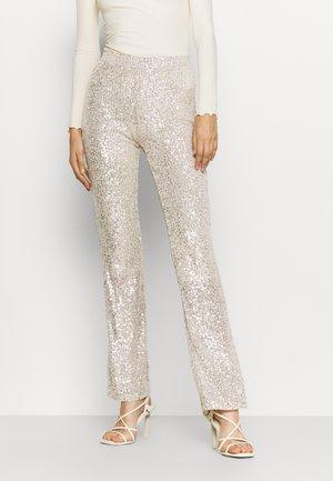 PCDELPHIA PANTS - Trousers - silver