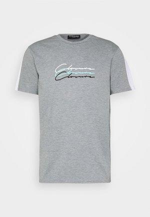 TRIPLE LOGO TEE - T-shirt print - grey