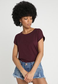 Vero Moda - VMAVA PLAIN - T-shirt basic - winetasting - 0
