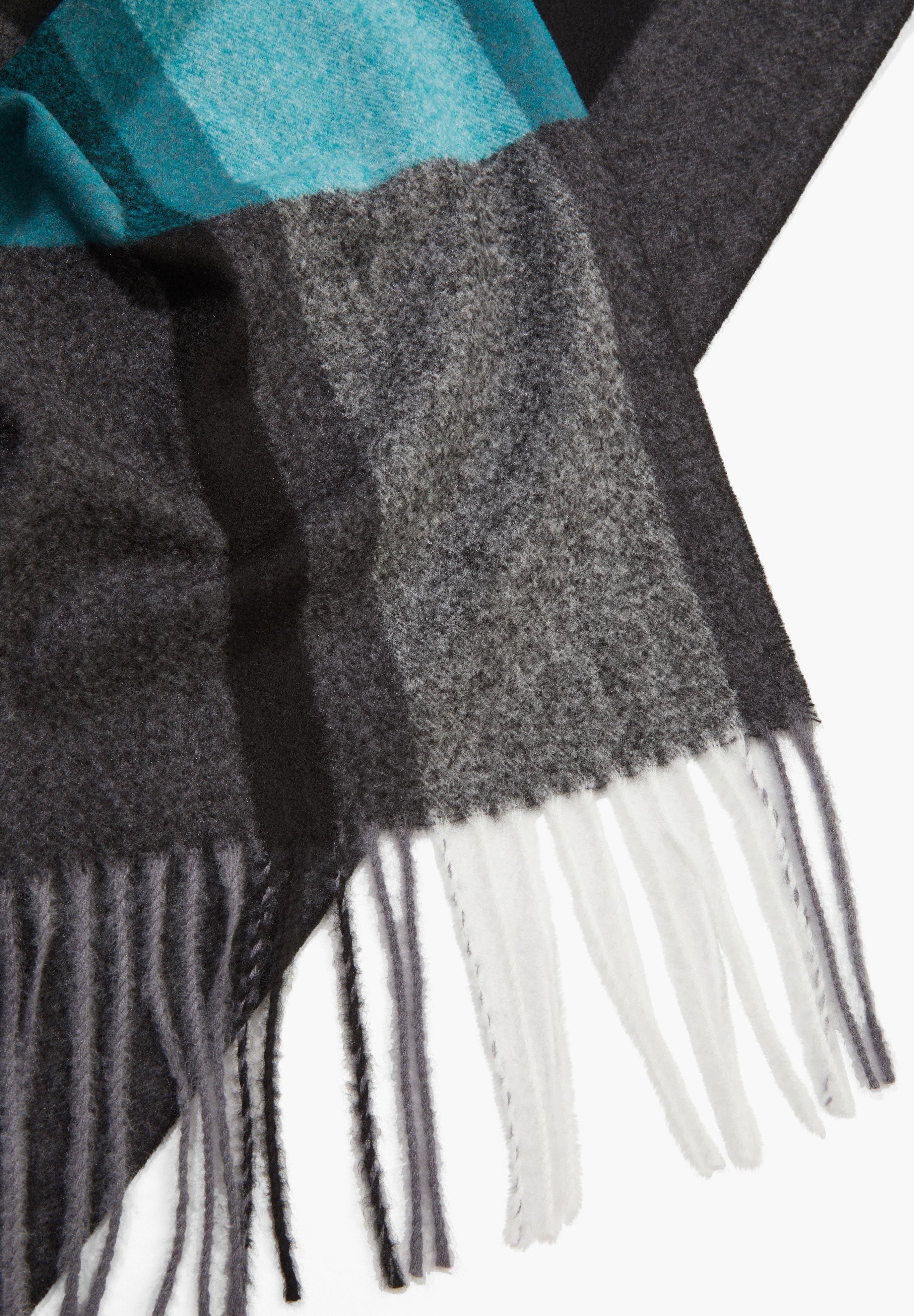 S.oliver Black Label Karo-mit Fransen - Schal Dark Grey Stripes/anthrazit