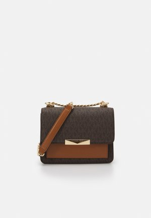 GUSSET CROSSBODY - Across body bag - brown/acorn