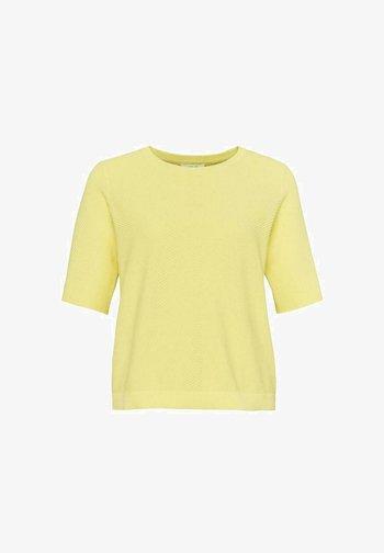 Basic T-shirt - gelb