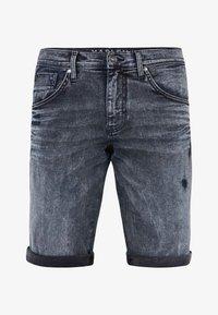 Harlem Soul - Denim shorts - blue black used - 8
