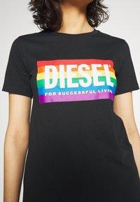 Diesel - BFOWT-SILY-PR - T-shirt print - black - 3