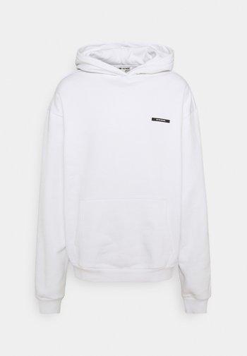 PEACOCK HOODIE UNISEX - Sweatshirt - white