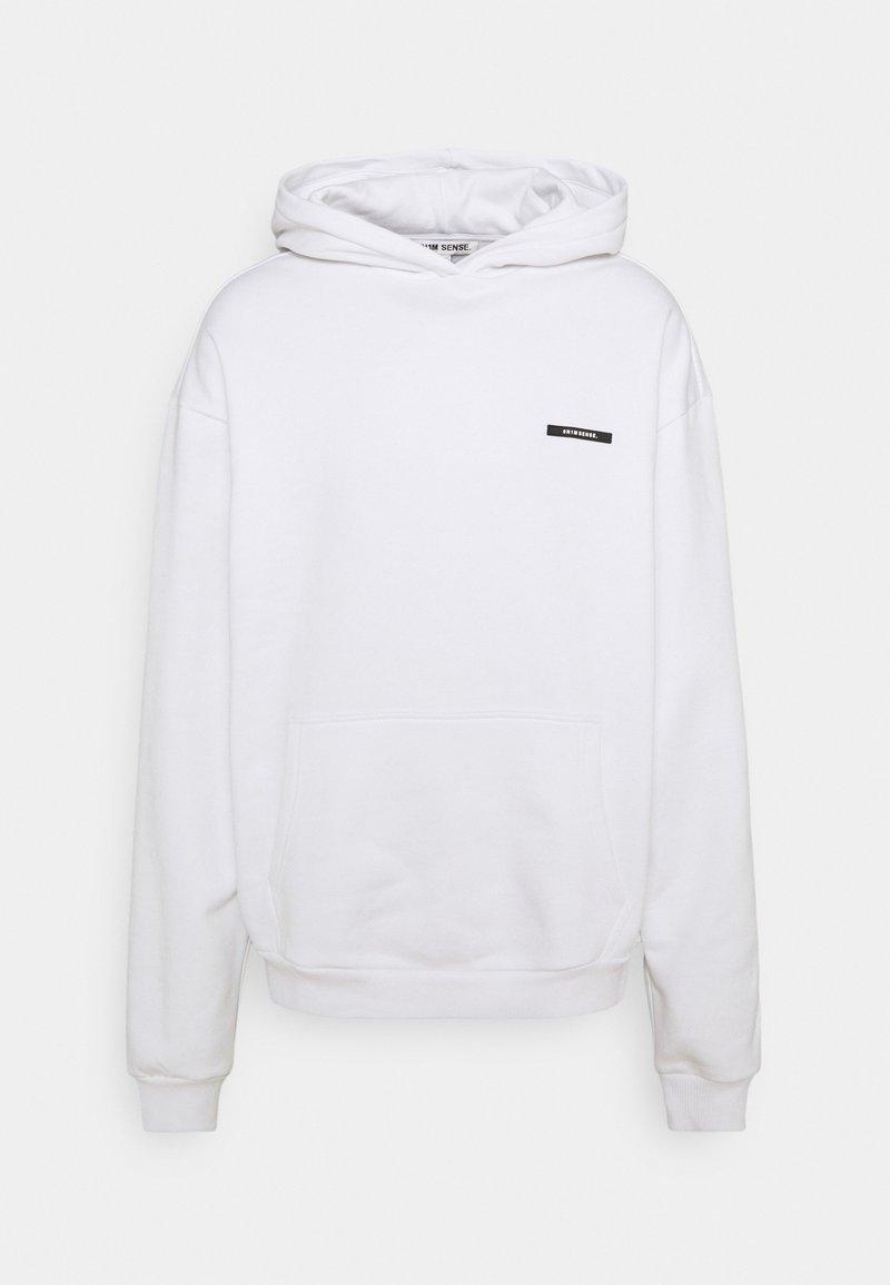 9N1M SENSE - PEACOCK HOODIE UNISEX - Sweatshirt - white