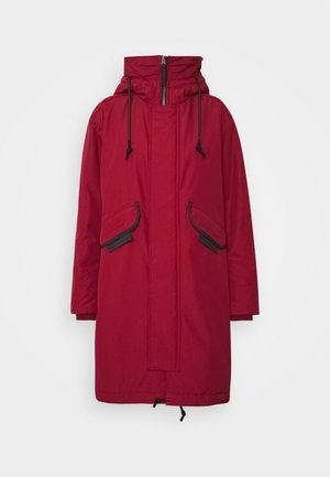 HOODED FISHTAIL - Winterjas - chateaux red