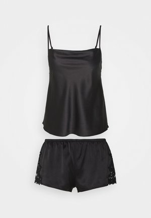 TOP WITH FRENCH KNICKERS - Pyjama - black