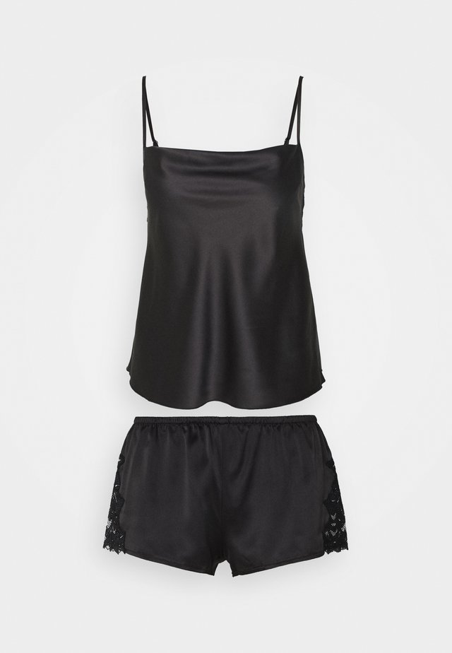 TOP WITH FRENCH KNICKERS - Pigiama - black
