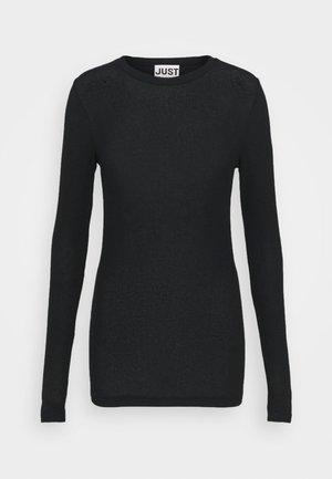MILLIE O-NECK - Long sleeved top - black