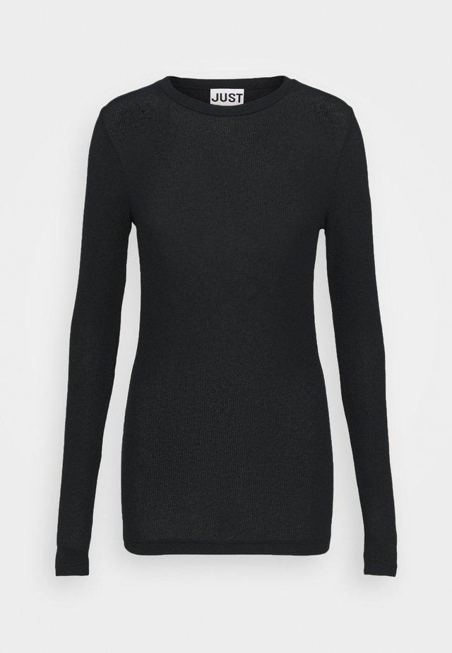 MILLIE O-NECK - Pitkähihainen paita - black