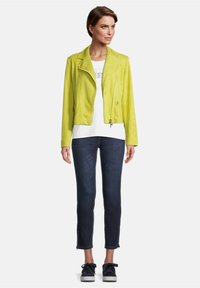 Betty Barclay - Faux leather jacket - yellow - 1
