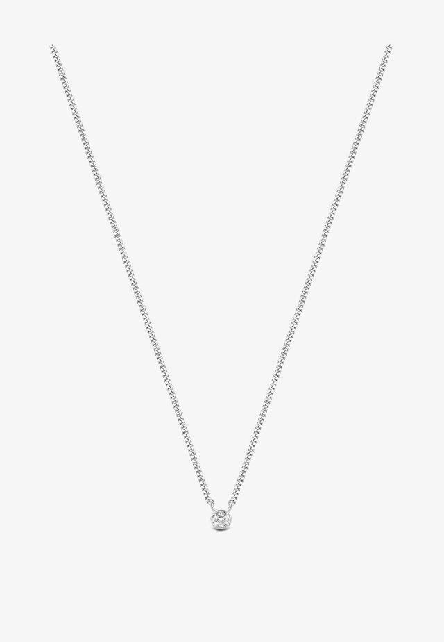 FIRST DIAMOND NECKLACE - Collier - white rhodium silver