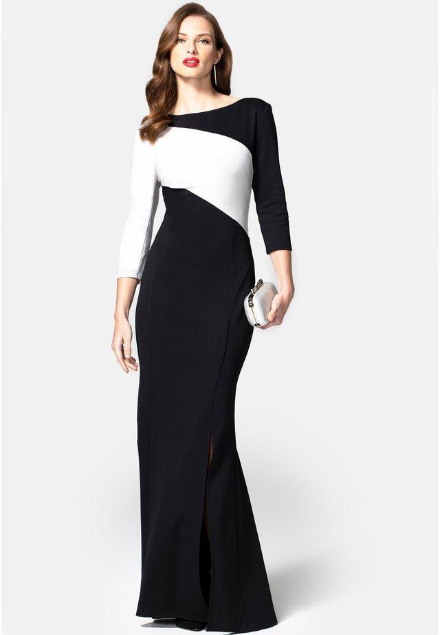 CONTRAST SASH - Suknia balowa - black with silver stripe