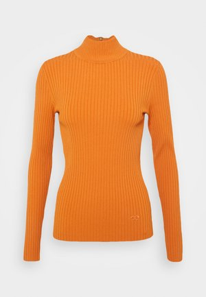 TURTLENECK - Strickpullover - light orange rust
