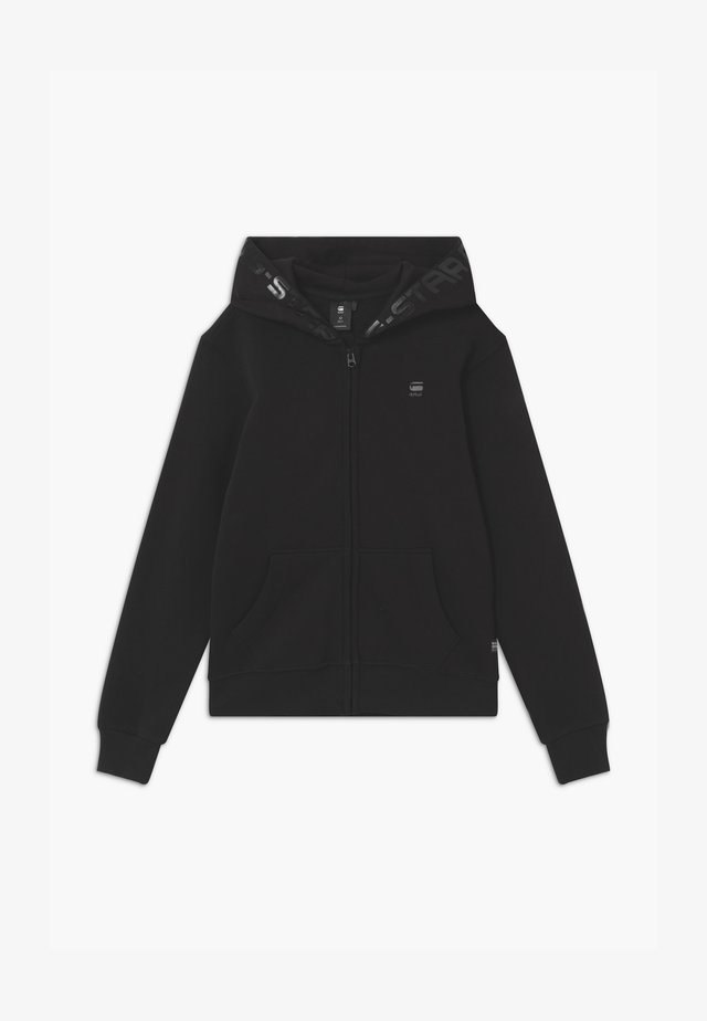 HOODY ZIPPER - veste en sweat zippée - black