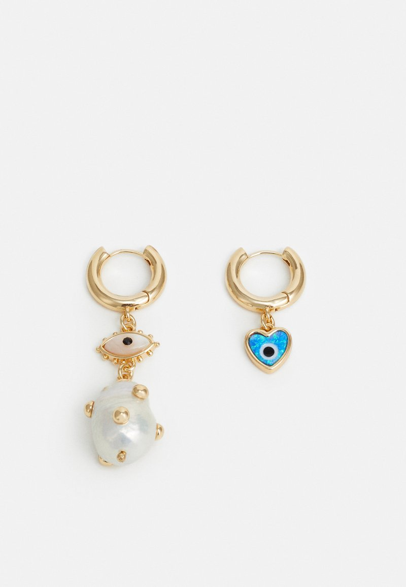 Rebecca Minkoff - MATCHED CHARM HUGGIE DROP - Earrings - gold-coloured