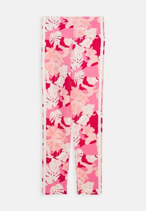 Legginsy - pink/off white