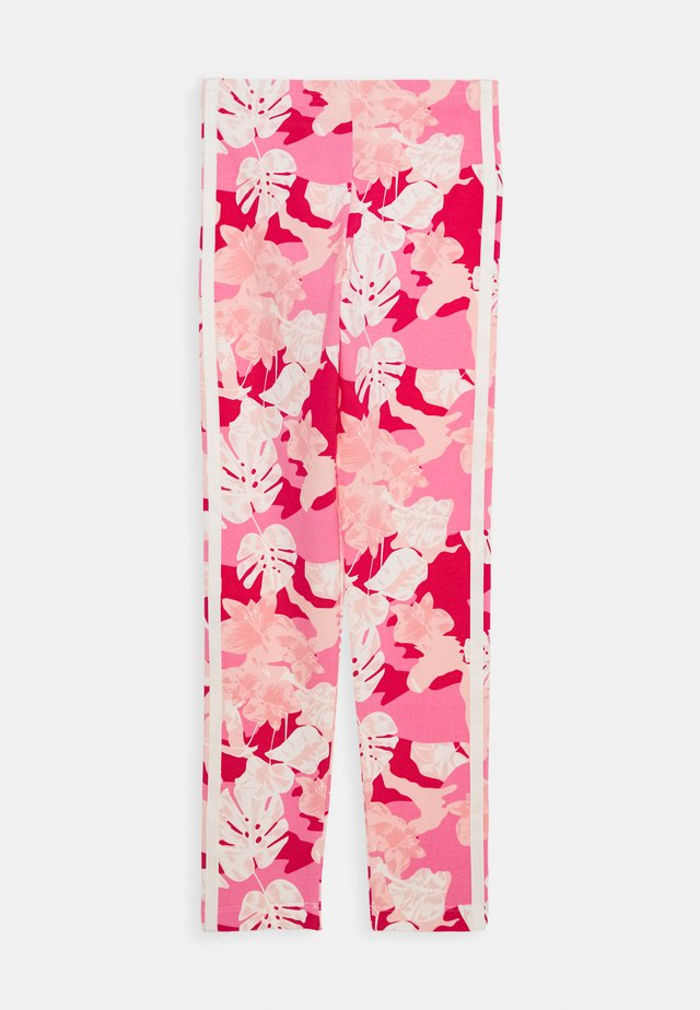 Leggingsit - pink/off white