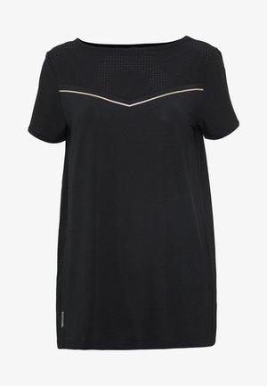 ONPJEWEL BOATNECK TRAINING TEE - Camiseta estampada - black/white gold